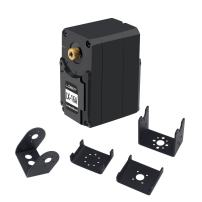 LX-16A Full Metal Gear Serial Bus Servo with 17kg High Torque, Real-Time Feedback, Dual Ball Bearing for RC Robot Arm(240 Degree) (LX-16A with Brackets)