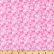 A.E. Nathan Flannel Tossed Bubbles, Yard, Pink