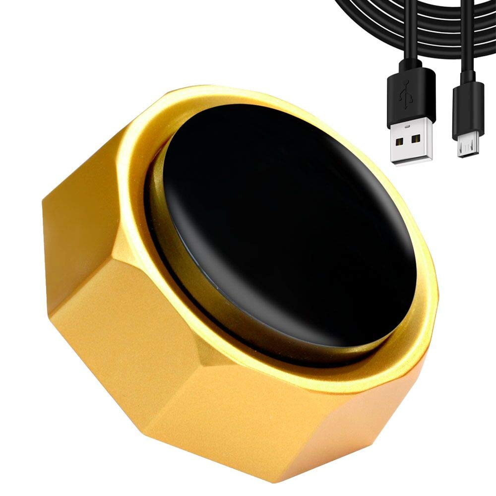 RIBOSY USB Sound Button - Make Your Own Button by Uploading Audio Files - Support 100+ Recordings - Top Recordable Quality Playback (USB Cable+Battery Included)【2020 Upgraded Version】
