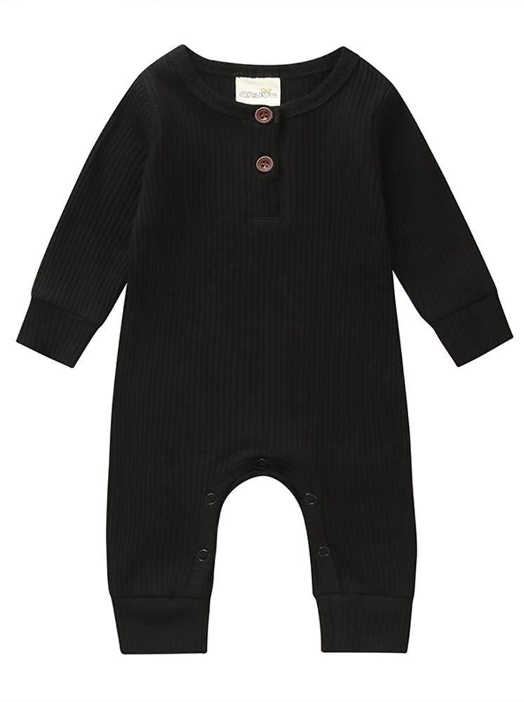 Kislio Newborn Baby Boys Girls Stripe Jumpsuit Long Sleeve One-Piece Bodysuit Outfit