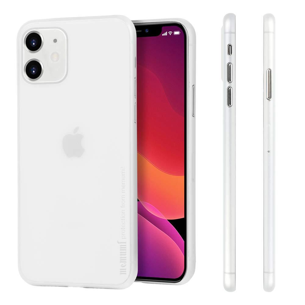 memumi Thin Fit Compatible with iPhone 11 Case 0.3 mm Matte Back Cover Compatible with iPhone 11 2019 Eleven Ultra Slim Phone Case [Fingerprint Resistant] [Scratch Resistant] (Matte Translucent White)