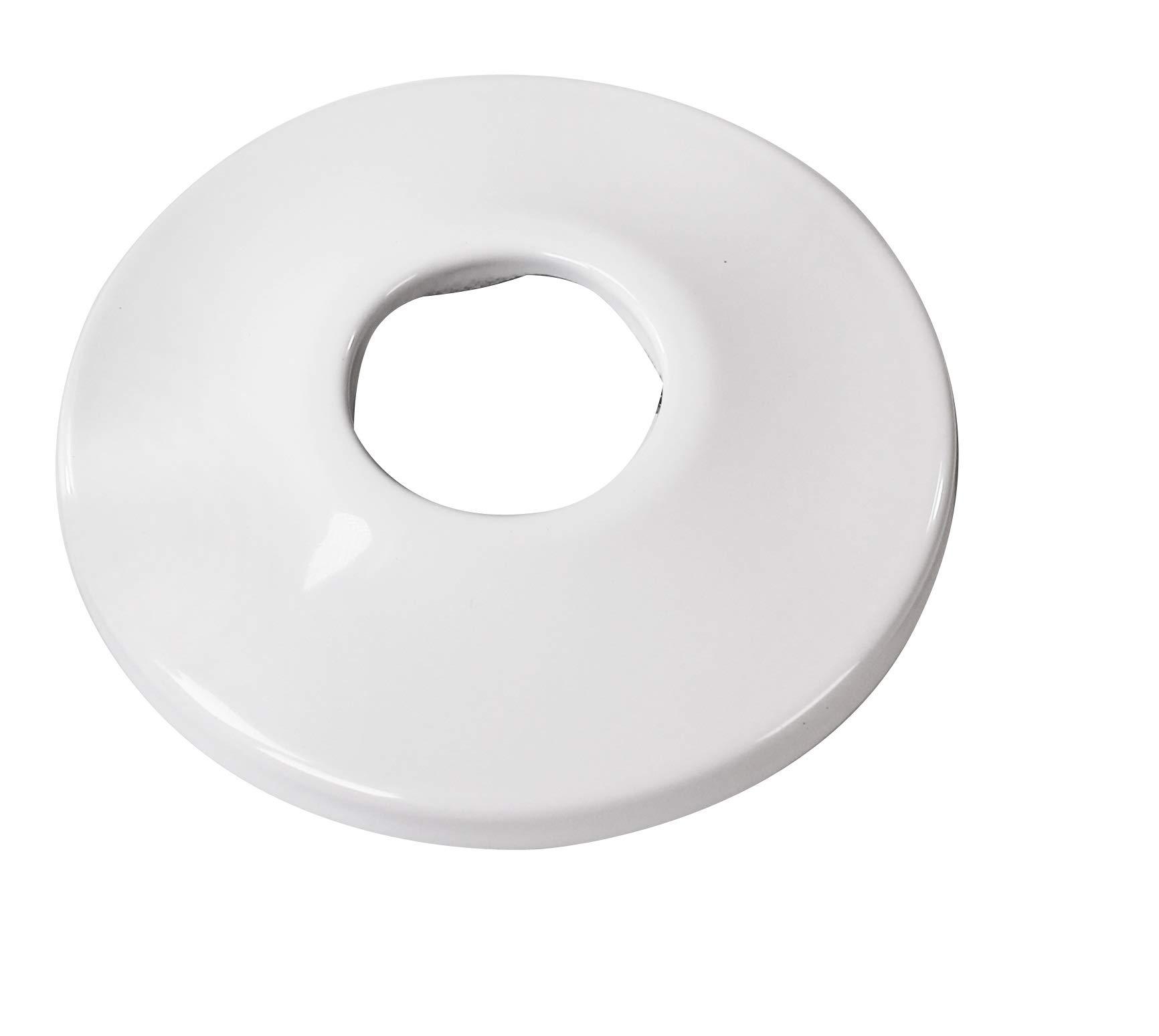 WestBrass D129 Powdercoated White 1/2 in. IPS Low Pattern Sure Grip Flange