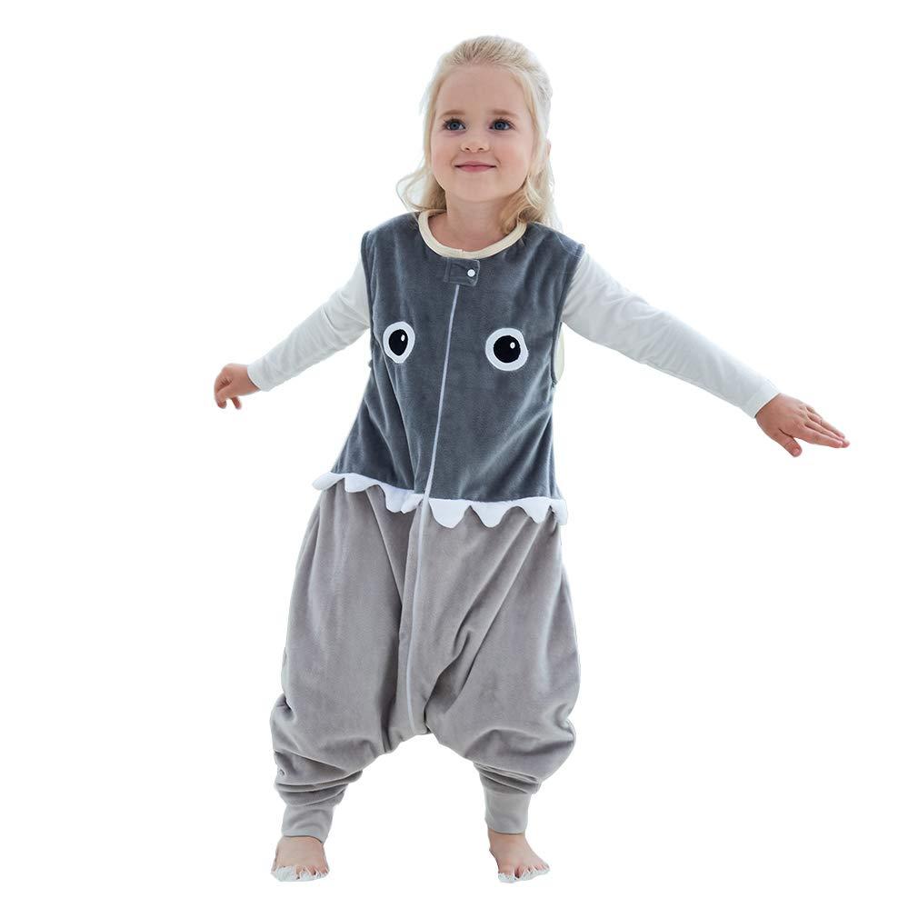 Idgirls Unisex Baby Warm Wearable Blanket Toddler Sleeping Bag With Legs 3 Season Grey For 3 5 Years