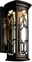 Kichler 49227OZLED, Franceasi Cast Aluminum Outdoor Wall Sconce Lighting LED, Olde Bronze