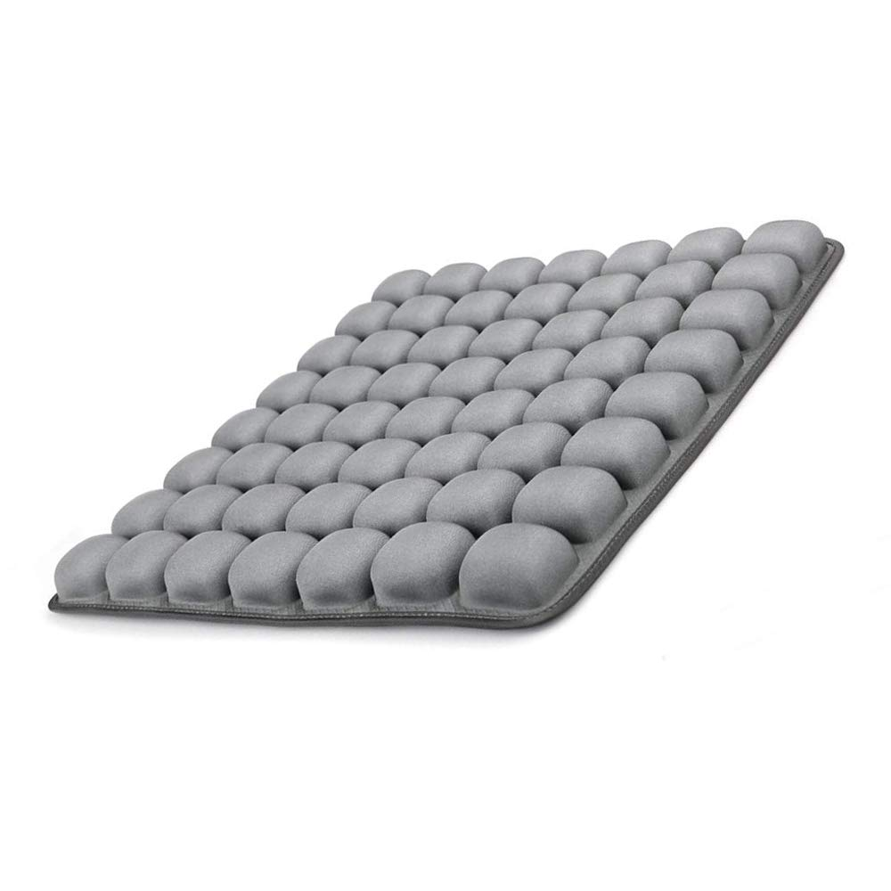 GRECUTE Air Inflatable Seat Cushion for Office, Study, Driving, Gaming,Wheelchair —(18''x16'') 3D Stereo Airbag Adjustable Seat Cover Air Cushion for Hip Stress Relief(Grey)