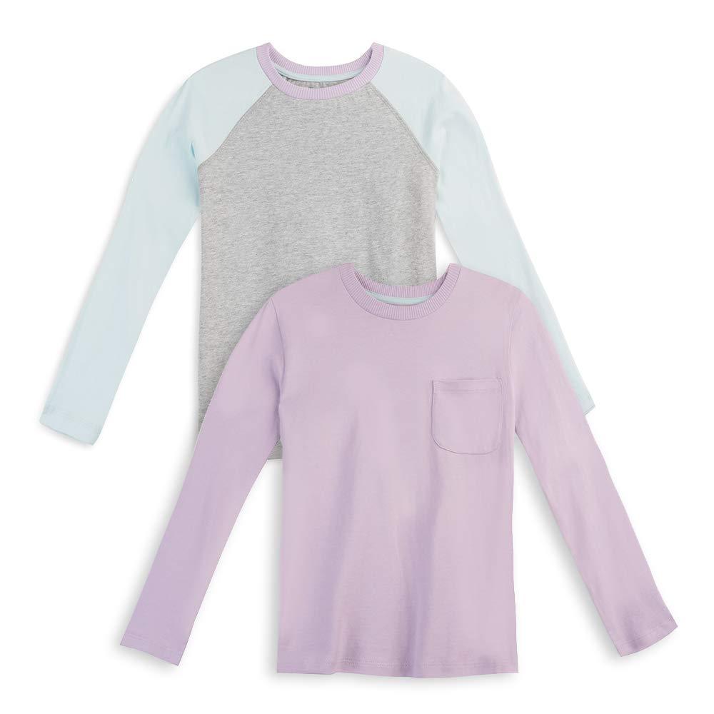 Mightly Kids Organic Cotton T-Shirt Long Sleeved Raglan