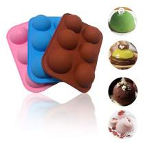 3Pack 6 Holes Semi Sphere Silicone Mold, Hot Chocolate Bomb Mold for Making Hot Chocolate Bomb, Hot Cocoa Bomb Mold for Jelly ,Dome Mousse,Silicone Sphere Mold
