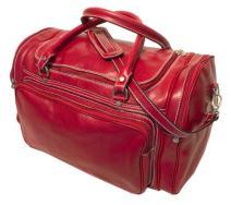 Floto Luggage Italian Torino Duffle Suitcase, Tuscan Red, Large