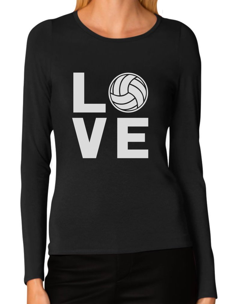 Love Volleyball for Volleyball Fans Women Long Sleeve T-Shirt
