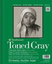 """Strathmore (412-105 400 Series Toned Gray Sketch Pad, 5.5""""x8.5"""", 50 Sheets (2-Pack)"""