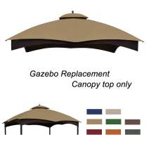 Eurmax Replacement Canopy Top for Lowe's Allen Roth 10X12 Gazebo #GF-12S004B-1 (Khaki)