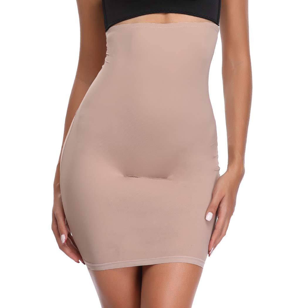 Half Slips for Women Under Dresses High Waist Tummy Control Shapewear Dress Slip Body Shaper Skirt