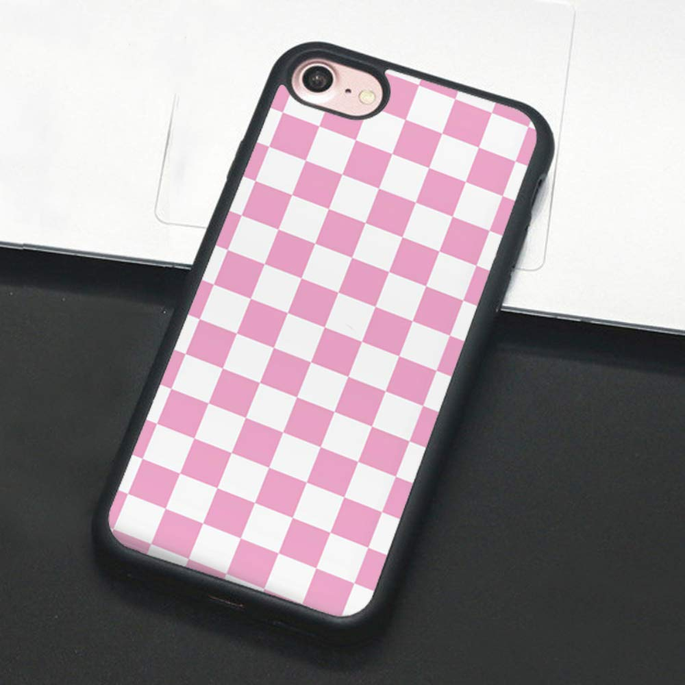 Checkerboard Phone Case for iPhone 11 Pro Max XS Max XR X 8 Plus 7 Plus 8 7 6 6s 5s 5 se Hard Cover Grid Lattice Plaid Tartan Damier House Checkerboard Chessboard Checker Flag (iPhone 7/8,4)
