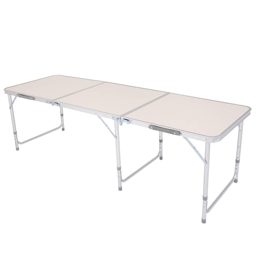 SoSo-BanTian1989 Folding Camping Table, Adjustable Aluminum Picnic Dining Table