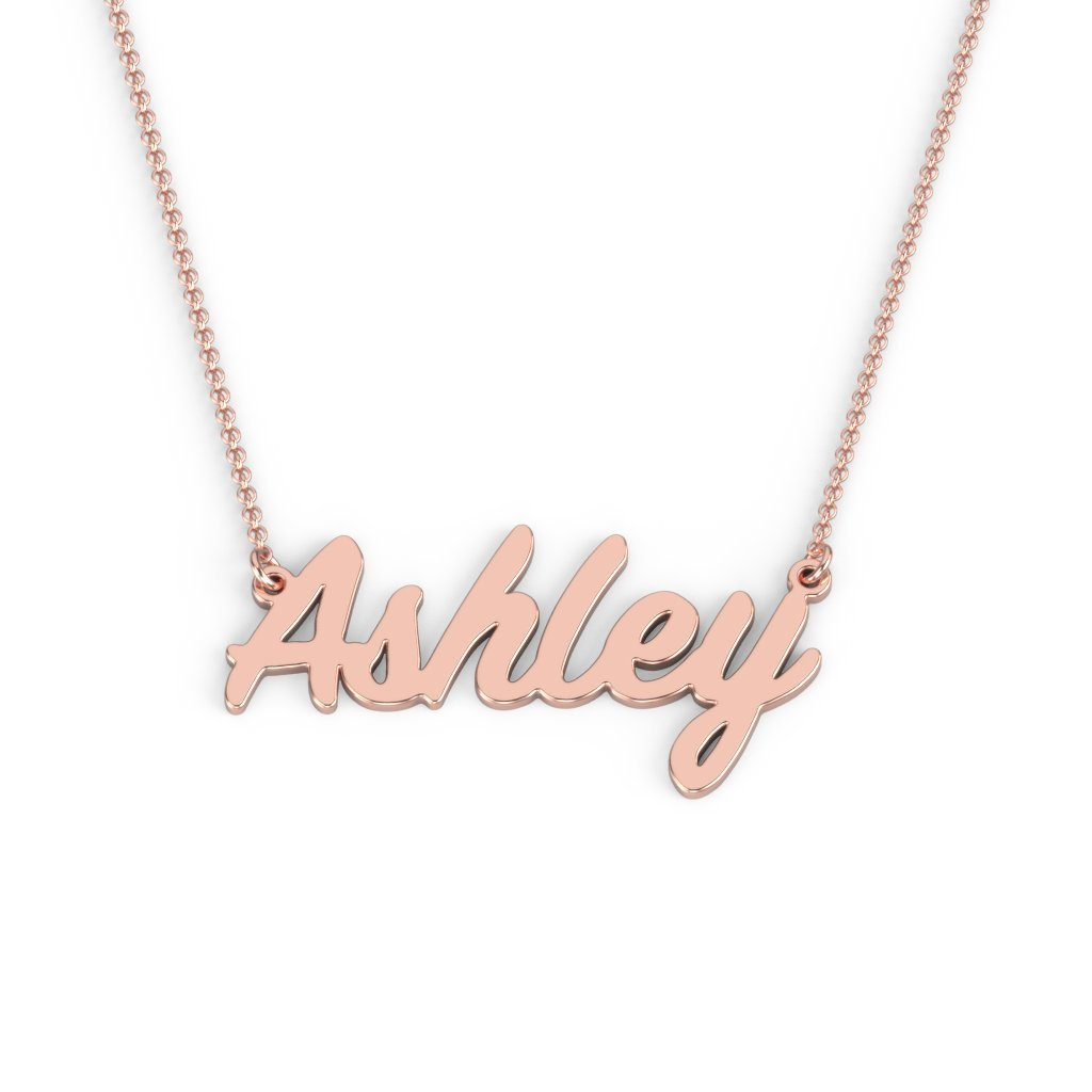 14K Personalized Name Necklace in Painter Font by JEWLR