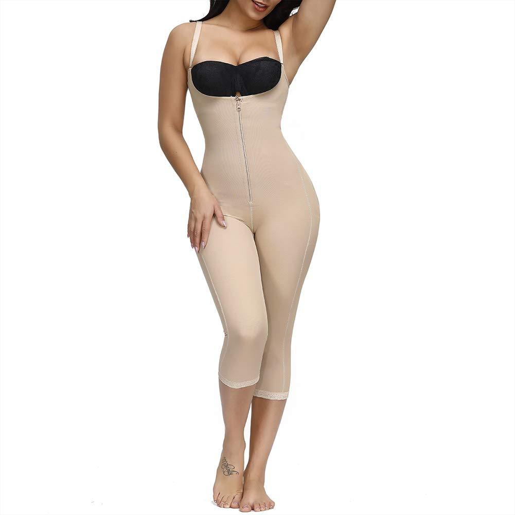 FeelinGirl Women's Seamless Firm Triple Control Shapewear Underwear Bodysuit Plus Size