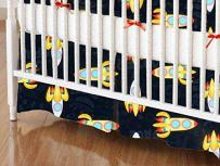 SheetWorld - Crib Skirt (28 x 52) - Outer Space - Made In USA