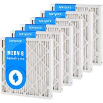 SpiroPure 14X17X2 MERV 8 Geothermal Air Filters - Made in USA (6 Pack)