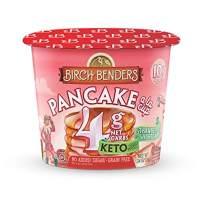 Strawberry Shortcake Pancake Cups by Birch Benders, Grain-free, Gluten-Free, Keto friendly, only 4 Net Carbs, Just Add Water (8 Single Serve Cups)