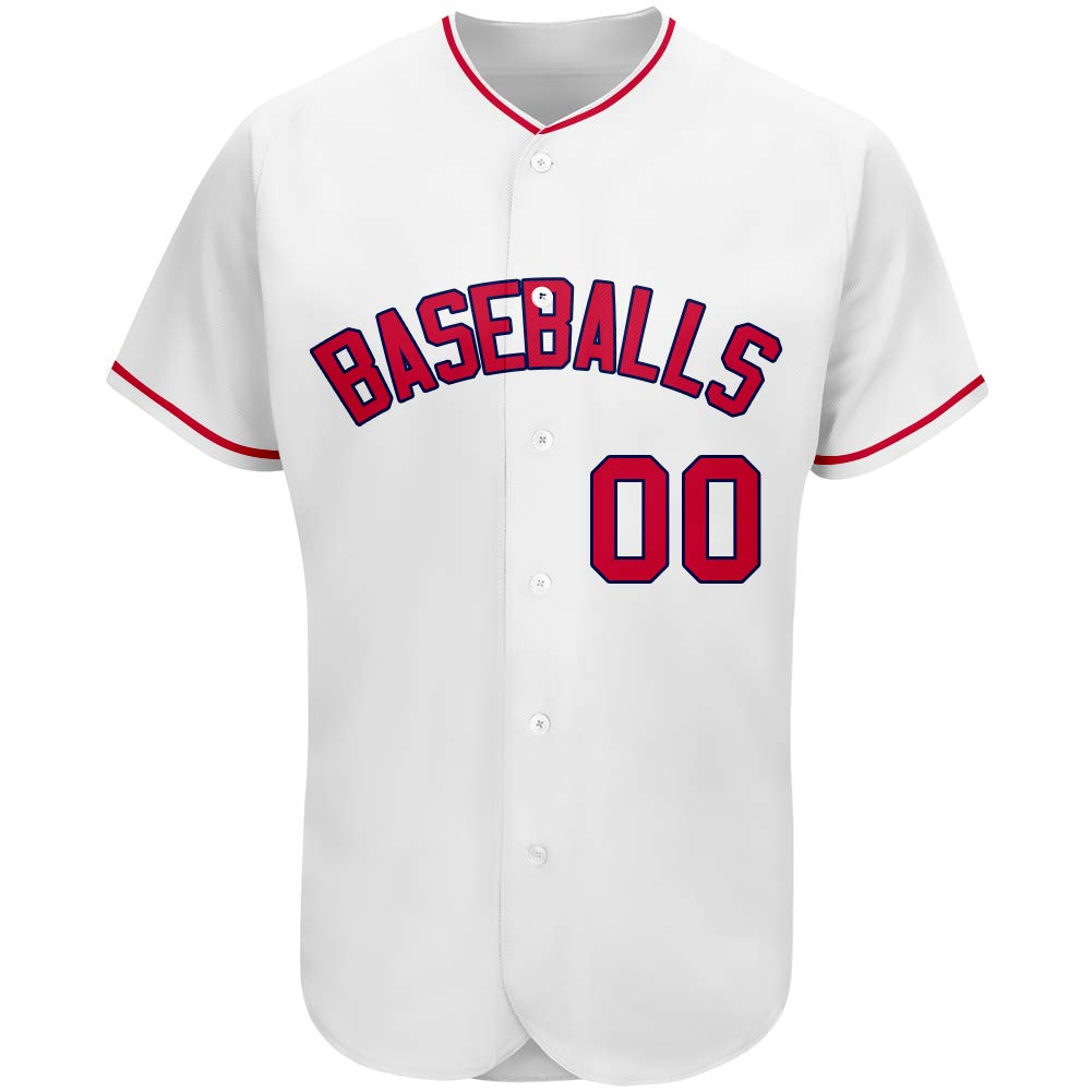 Custom Baseball Jersey Personalized Mesh Pinstripe Button Down Shirts with Team/Your Name and Numbers for Men/Women/Youth