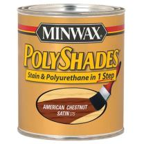 Minwax 213754444 Polyshades - Stain & Polyurethane in 1 Step, 1/2 pint, American Chestnut, Satin