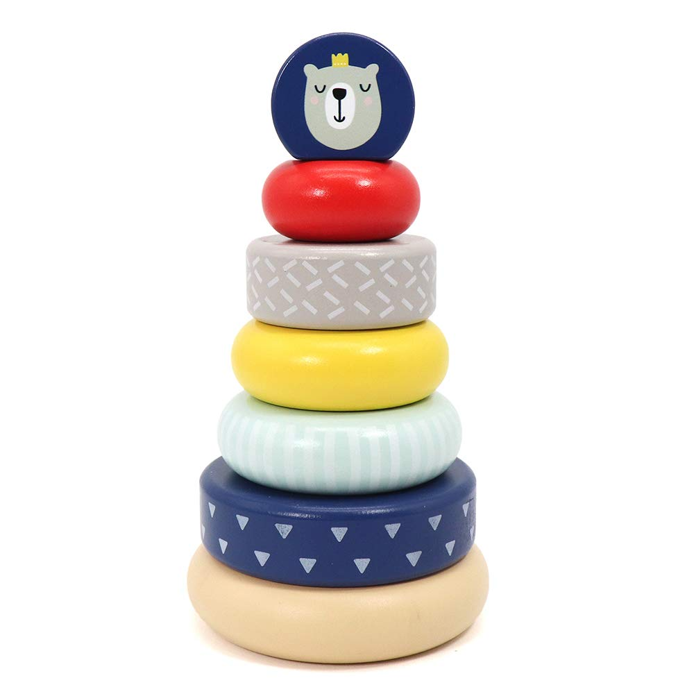 LEO & FRIENDS Wooden Stacking Toys,Australia Origin Baby Toys for One Year Old and Up,Montessori Toys for Babies and Best Gifts for Playing with Parents.