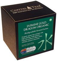 Capital Teas Organic Tea Sachets, Jasmine Gold Dragon, 20 Count