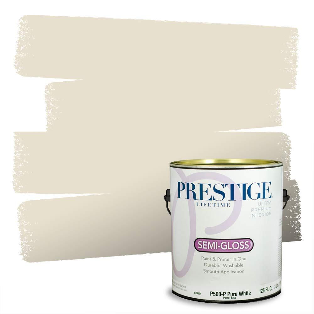 Prestige, Browns and Oranges 5 of 7, Interior Paint and Primer In One, 1-Gallon, Semi-Gloss, Full Moon