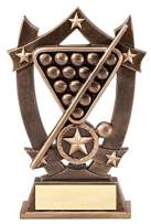Express Medals (1-3-5 Pack) of 6.25 Inch Sport Star Billiards Trophy Award with Engraved Personalized Plate