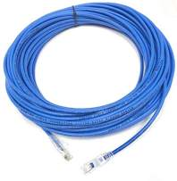 35ft Blue Cat5e Plenum Rated Patch Cable