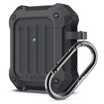 Spigen Tough Armor Designed for Airpods Case Cover for Airpods 1 & 2 [Front LED Visible] - Charcoal