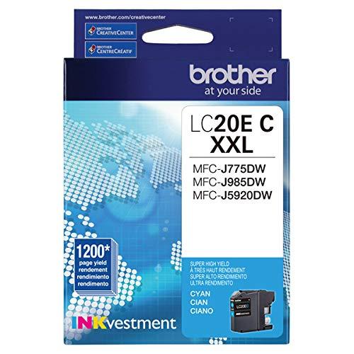 Brother LC20EC Super High Yield Cyan Ink Cartridge