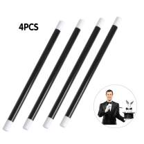 Oubaka 4Pcs Plastic Magic Wand,Magician's Wand Spell Casting Stick for Wizard Witch Magician Costume, Party Favors, Birthday Games Kit(10in)