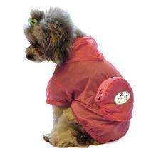 Pet Life The Ultimate Waterproof Thunder-Paw Adjustable Zippered Folding Travel Dog Raincoat
