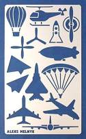 Aleks Melnyk #21 Metal Journal Stencil/Air Transport/Stainless Steel Stencil 1 PCS/Template Tool for Wood Burning, Pyrography and Engraving/Scrapbooking/Crafting/DIY