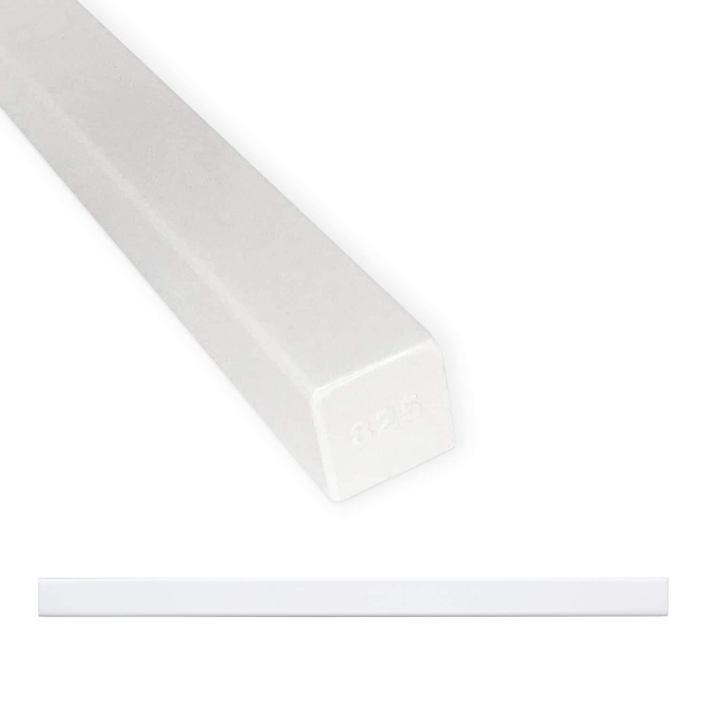 Tile Trim 3/4 x 12 inch Linear Flat Pencil Shower Edge Ceramic Tile Transition Liner Backsplash Wall Molding - Polished Bright White (6 Pack)