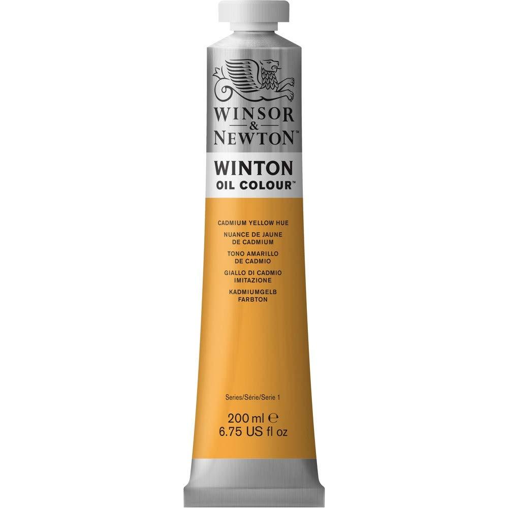 Winsor & Newton Winton Oil Colour Paint, 200ml tube, Cadmium Yellow Hue