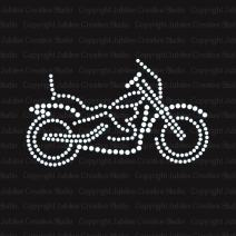 Motorcycle Biker Iron On Rhinestone Crystal T-Shirt Transfer by JCS Rhinestones