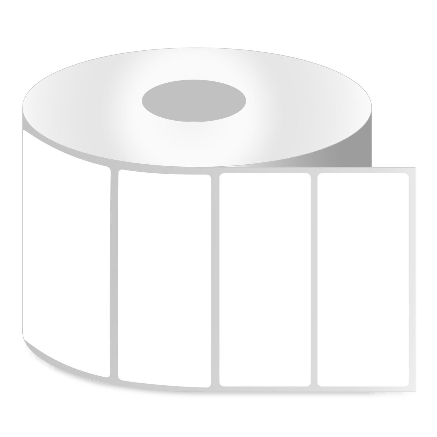 OfficeSmart Labels ZR1400200-4 x 2 Inch Removable Direct Thermal Labels, Compatible with Zebra Printers (20 Rolls, White, 750 Labels Per Roll, 1 inch Core)