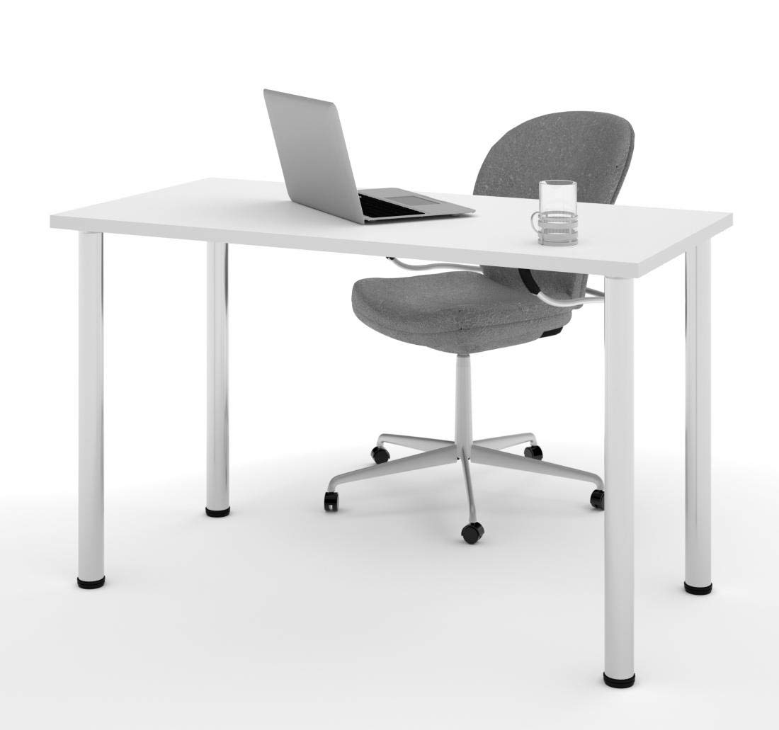 """Bestar 24"""" x 48"""" Table Desk with Round Metal Legs - Universel"""