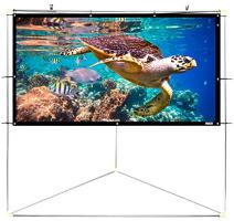 "Pyle 100"" Outdoor Portable Matt White Theater TV Projector Screen w/ Triangle Stand - 100 inch, 16:9, 1.15 Gain Full HD Projection for Movie / Cinema / Video / Film Showing Outside Home - PRJTPOTS101"