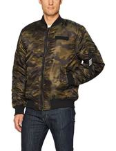Southpole Men's Big & Tall Nylon Bomber Ma-1 Jacket With Utility Zippered Pocket On Sleeve