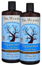 Dr. Woods Pure Peppermint Liquid Castile Soap with Organic Shea Butter, 32 Ounce (Pack of 2)