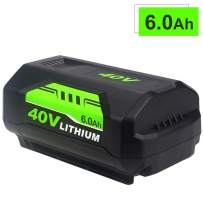 6000mAh High Capacity Replacement for Ryobi 40V Battery Lithium Ion OP4026A OP40261 40 Volt Rechargeable Batteries