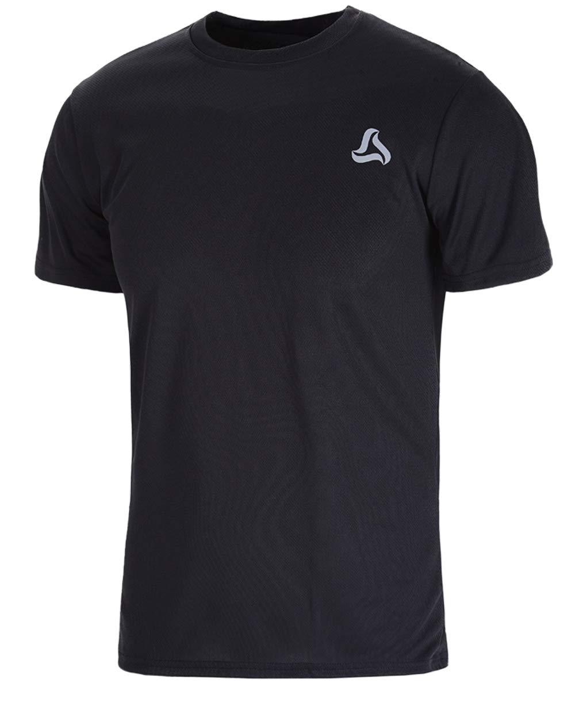 SILKWORLD Men's Mesh Quick Dry Short Sleeve Workout Shirt