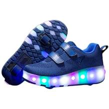 Nsasy Roller Shoes Kids LED Light Up Wheel Shoes Girls Sneakers