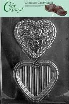 Cybrtrayd W032 Swan Heart Pour Box Wedding Chocolate Candy Mold