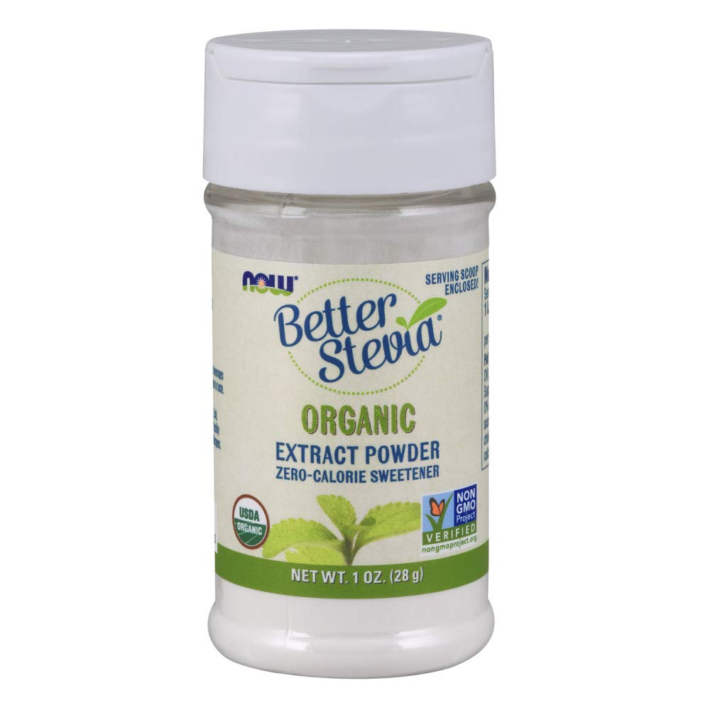 NOW Foods Better Stevia Organic Zero Calorie Powdered Sweetener - 1 oz