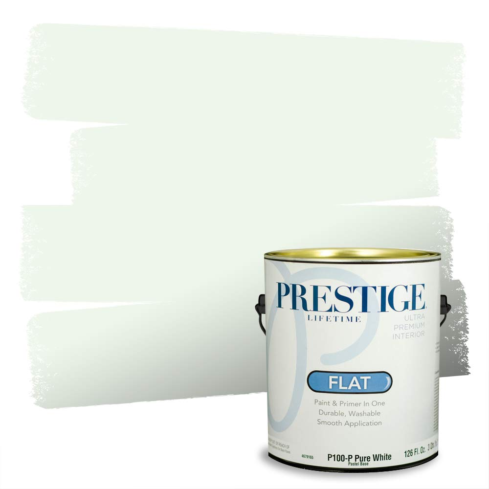 Prestige, Greens and Aquas 4 of 9, Interior Paint and Primer In One, 1-Gallon, Flat, Shy Smile