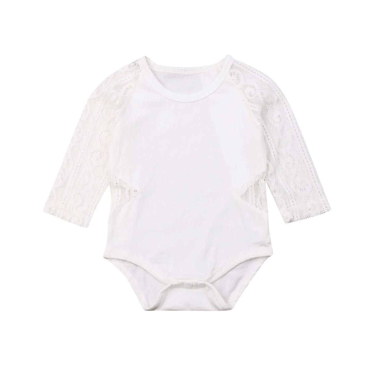 Newborn Kids Baby Girl Boy Long Sleeve Clothes Romper Bodysuit Jumpsuit Overalls Lace Outfits